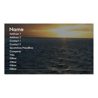 Sunset At Hawaiian Business Card Templates