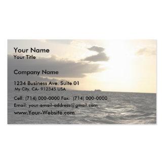 Sunset At Hawaiian Business Card Template