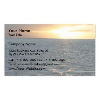 Sunset At Hawaiian Business Card