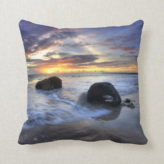 Sunset At Kedonganan Beach Cushion