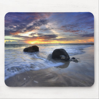 Sunset At Kedonganan Beach Mouse Mat