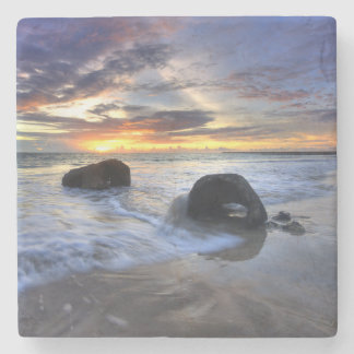 Sunset At Kedonganan Beach Stone Coaster