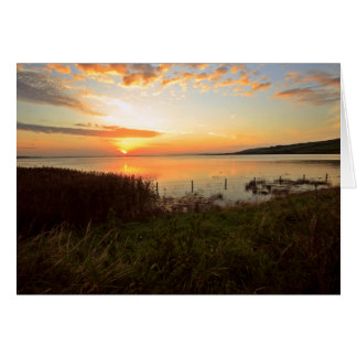 Sunset at Kidwelly Quay Card