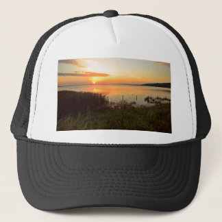 Sunset at Kidwelly Quay Trucker Hat
