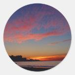Sunset At La Jolla Shores Round Sticker