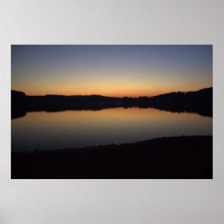 Sunset at Lake Acworth Poster