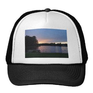Sunset at Lake Swan, Paulding, Georgia Mesh Hats