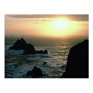 Sunset at Land s End at the Cornish Riviera Post Card