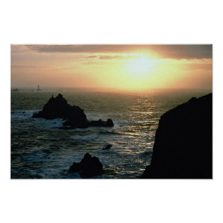Sunset at Land s End at the Cornish Riviera Print