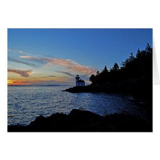 Sunset at Lime Kiln Pt State Park Greeting Card