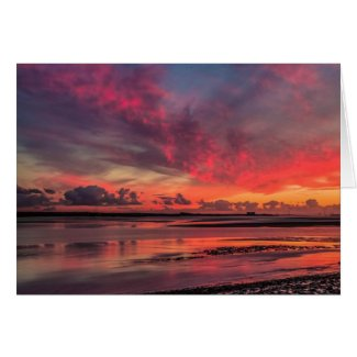 Sunset at Lydney Harbour Card