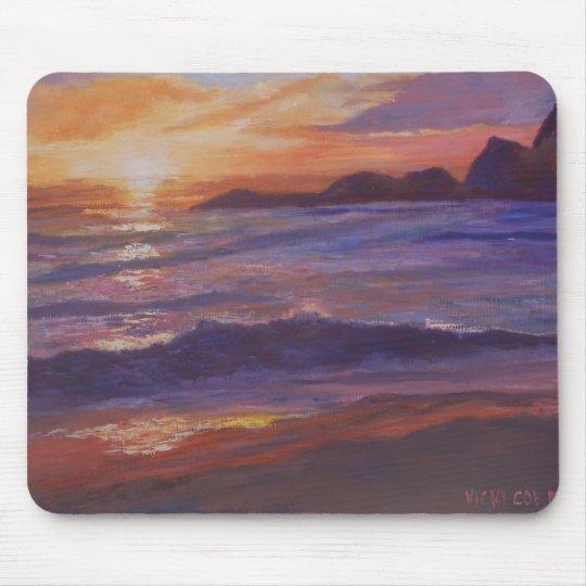 Sunset at Martin's Beach Half Moon Bay Mouse Pad