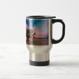 Sunset at Mojave Coffee Mugs