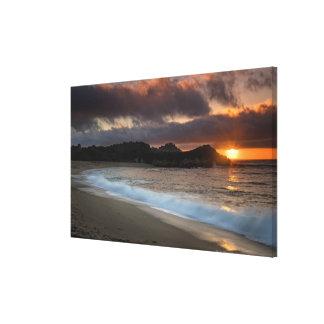 Sunset at Monastery Beach, Carmel, California, Canvas Print