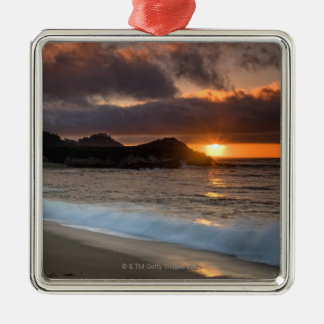 Sunset at Monastery Beach, Carmel, California, Christmas Ornament