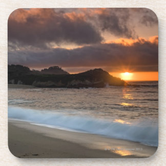 Sunset at Monastery Beach, Carmel, California, Coaster