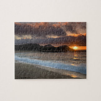 Sunset at Monastery Beach, Carmel, California, Jigsaw Puzzle