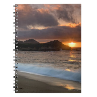 Sunset at Monastery Beach, Carmel, California, Notebook