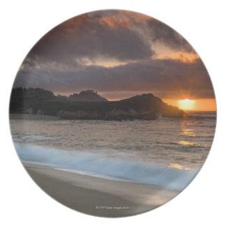 Sunset at Monastery Beach, Carmel, California, Plate