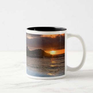Sunset at Monastery Beach, Carmel, California, Two-Tone Coffee Mug