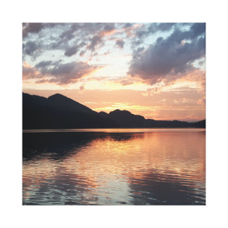 Sunset at Mondsee, Salzkammergut, Austria Canvas Print