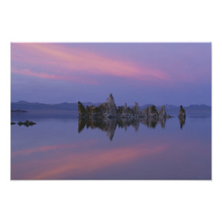 Sunset at Mono Lake, CA. Poster