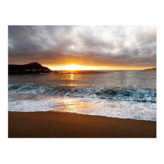 Sunset at Monterey, California's Pacific Coast Postcard