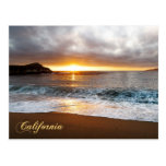 Sunset at Monterey, California's Pacific Coast Postcard