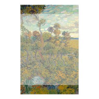 Sunset at Montmajour by Vincent Van Gogh Custom Flyer