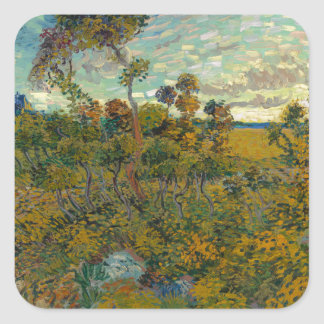 Sunset at Montmajour by Vincent Van Gogh Stickers