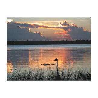 Sunset At Mt Dora , Florida Canvas Print