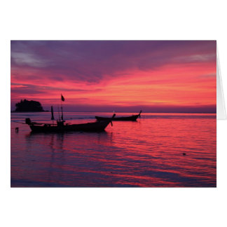 Sunset at Nai Yang Beach, Phuket, Thailand Greeting Card