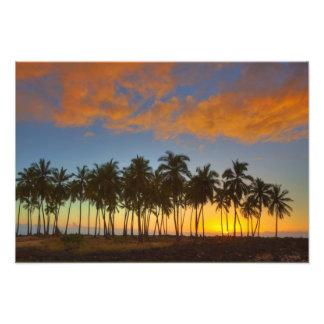 Sunset at National Historic Park Pu uhonua o Art Photo