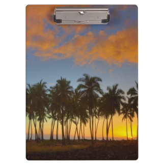 Sunset at National Historic Park Pu'uhonua o Clipboard