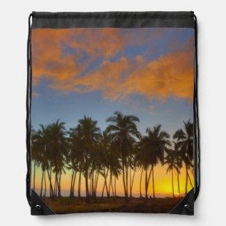 Sunset at National Historic Park Pu'uhonua o Drawstring Bag