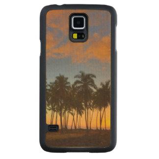 Sunset at National Historic Park Pu'uhonua o Maple Galaxy S5 Slim Case