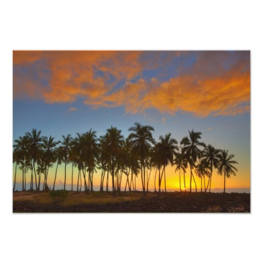 Sunset at National Historic Park Pu'uhonua o Art Photo