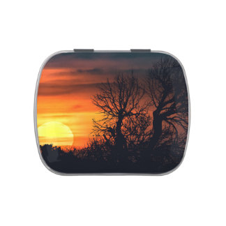 Sunset at Nature Landscape Candy Tins
