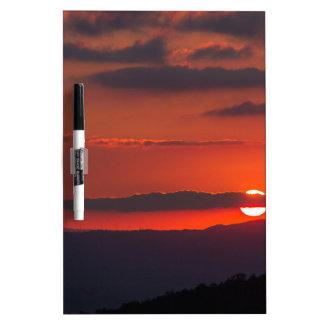 sunset at night dry erase board