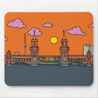 Sunset at Oberbaum Bridge in Berlin Mouse Mat