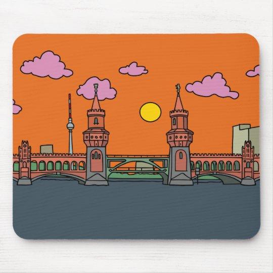 Sunset at Oberbaum Bridge in Berlin Mouse Pad