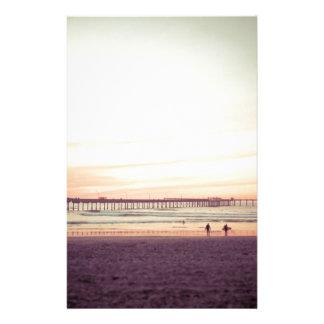 Sunset at Ocean Beach, California Custom Stationery