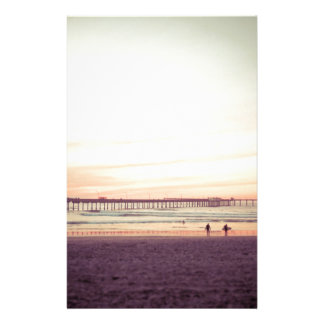 Sunset at Ocean Beach, California Stationery