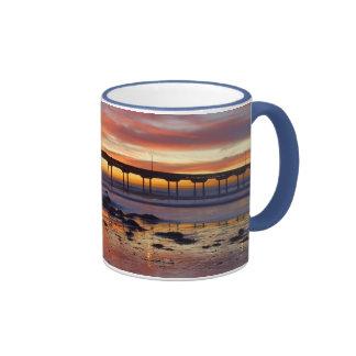 Sunset at Ocean Beach Ringer Mug