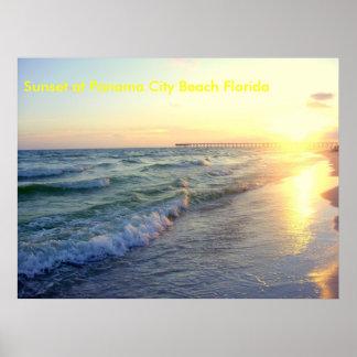 Sunset at Panama City Beach Florida Print