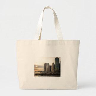 Sunset at Pier 17, South Street Seaport, New York Jumbo Tote Bag