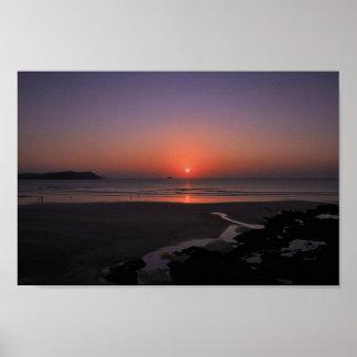 Sunset at Polzeath Print