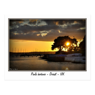 Sunset at Poole harbour - Dorset - Uk Postcard