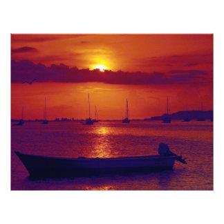 Sunset at Puerto la Cruz Venezuela Flyers