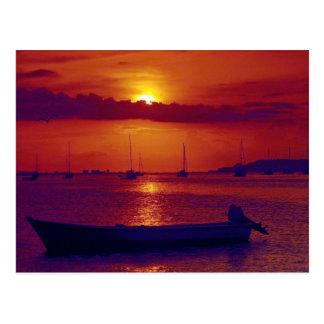 Sunset at Puerto la Cruz, Venezuela Postcard
